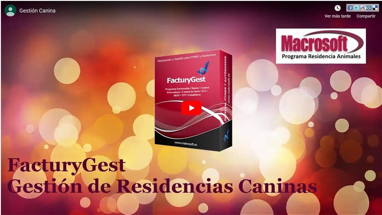 Video demostrativo Software Hotel Canino ProgCan